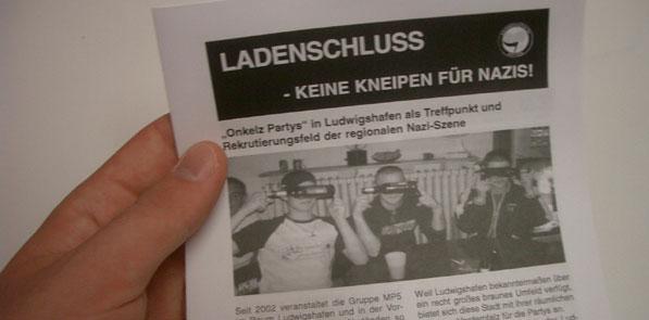 Keine Kneipen für Nazis!